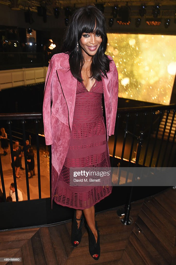 Naomi Campbell attends the Burberry Festive film premiere at 121 Regent Street on November 3, 2015 in London, England.