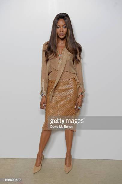 Naomi Campbell attends the Burberry September 2019 show during London Fashion Week, on September 16, 2019 in London, England.