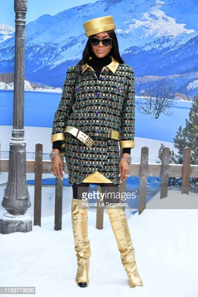 Naomi Campbell attends the Chanel show as part of the Paris Fashion Week Womenswear Fall/Winter 2019/2020 on March 05, 2019 in Paris, France.
