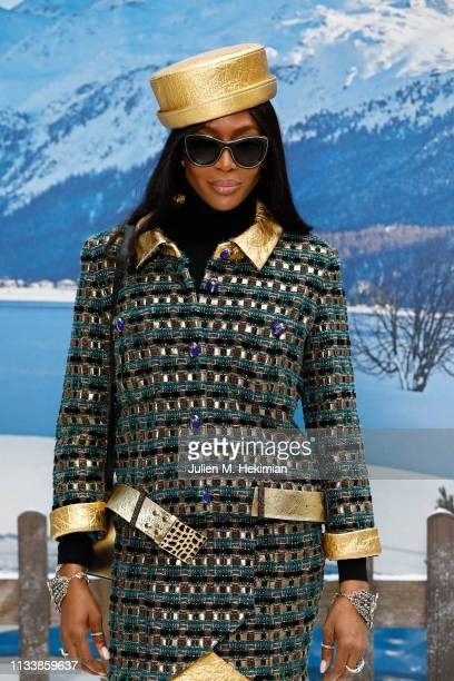 Naomi Campbell attends the Chanel show as part of the Paris Fashion Week Womenswear Fall/Winter 2019/2020 on March 05 2019 in Paris France