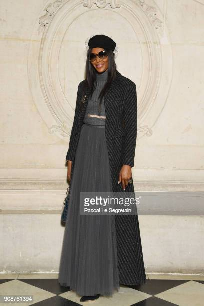 Naomi Campbell attends the Christian Dior Haute Couture Spring Summer 2018 show as part of Paris Fashion Week on January 22 2018 in Paris France