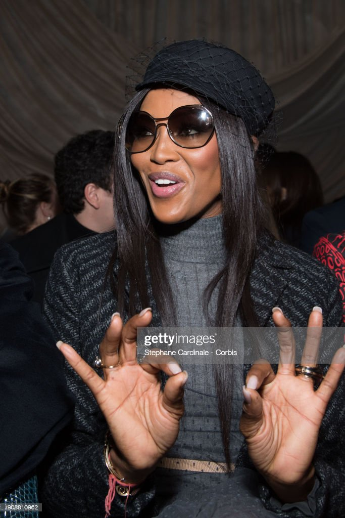 Naomi Campbell attends the Christian Dior Haute Couture Spring Summer 2018 show as part of Paris Fashion Week January 22, 2018 in Paris, France.