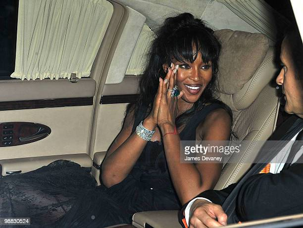 Naomi Campbell attends the Costume Institute Gala after party at the Mark hotel on May 3 2010 in New York City