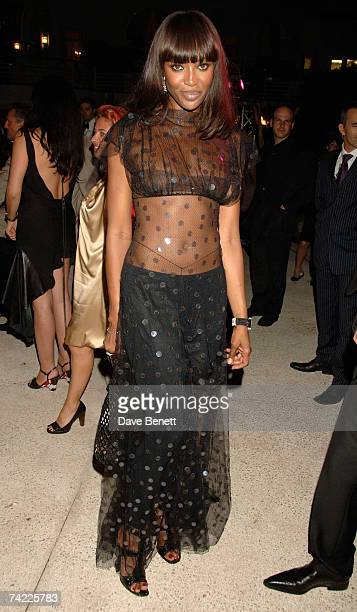 Naomi Campbell attends the De Grisogono dinner held during the 60th International Cannes Film Festival at the Hotel du Cap Eden Roc on May 22 2007 in...