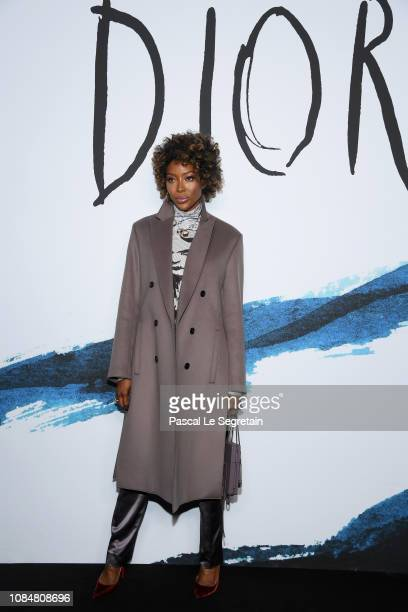 Naomi Campbell attends the Dior Homme Menswear Fall/Winter 20192020 show as part of Paris Fashion Week on January 18 2019 in Paris France