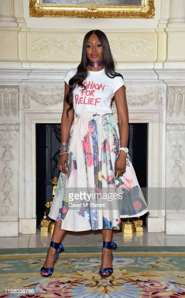 Naomi Campbell attends The Fashion Awards 2019 and Fashion For Relief special announcement at The Ritz on June 24 2019 in London England