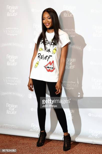 Naomi Campbell attends the Fashion for Relief Cannes 2018 photocall during the 71st annual Cannes Film Festival at Martinez Hotel on May 12 2018 in...
