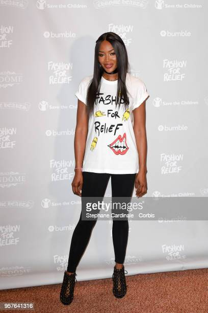 Naomi Campbell attends the Fashion For Relief Cannes 2018 Photocall during the 71st annual Cannes Film Festival at Hotel Martinez on May 12 2018 in...