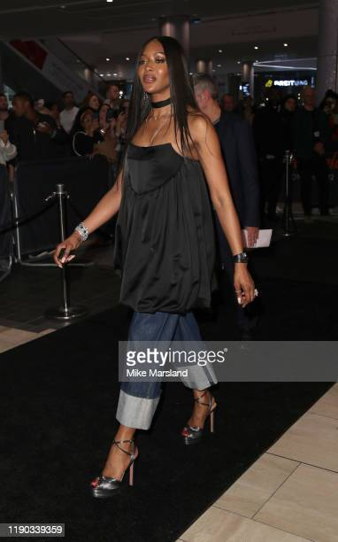 Naomi Campbell attends the Fashion for Relief pop-up store at Westfield London on November 26, 2019 in London, England.