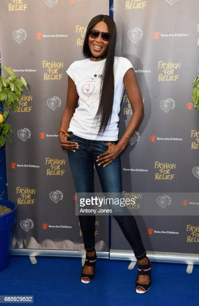 Naomi Campbell attends the Fashion For Relief Press Conference during the 70th annual Cannes Film Festival at Five Seas Hotel on May 20 2017 in...