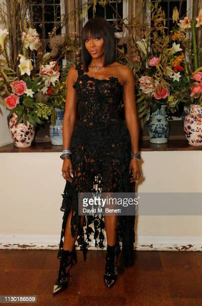 Naomi Campbell attends the FrancoisHenri Pinault and Sarah Burton dinner In celebration of the Alexander McQueen Old Bond Street Flagship Store on...