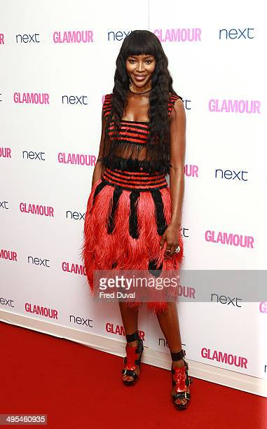 Naomi Campbell attends the Glamour Women of the Year Awards at Berkeley Square Gardens on June 3 2014 in London England