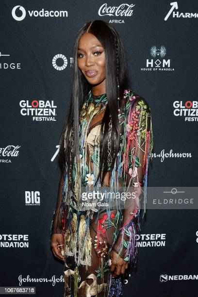 Naomi Campbell attends the Global Citizen Festival Mandela 100 at FNB Stadium on December 2 2018 in Johannesburg South Africa
