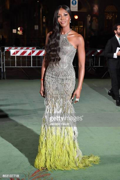 Naomi Campbell attends the Green Carpet Fashion Awards Italia 2017 during Milan Fashion Week Spring/Summer 2018 on September 24 2017 in Milan Italy