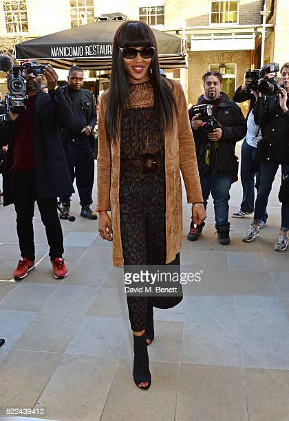 Naomi Campbell attends the launch of her new book 'Naomi' at the Taschen Store on April 19 2016 in London England