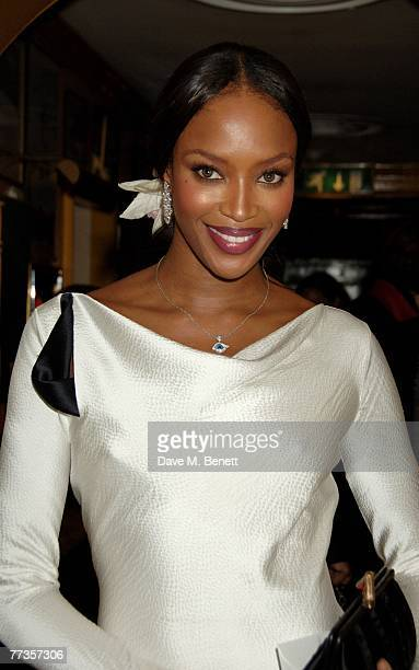 Naomi Campbell attends the launch of Kate Moss's new Top Shop 'Christmas Range' collection at Annabel's October 16 2007 in London England