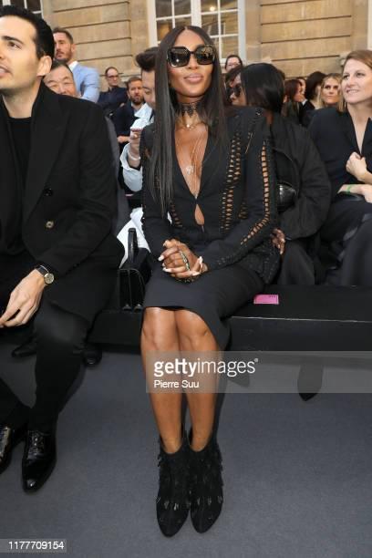 """Naomi Campbell attends the """"Le Defile L'Oreal Paris"""" show as part of Paris Fashion Week At Monnaie de Paris on September 28, 2019 in Paris, France."""