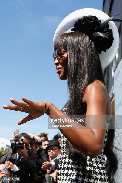Naomi Campbell attends the Lexus Design Pavilion on Victoria Derby Day at Flemington Racecourse on November 2 2013 in Melbourne Australia