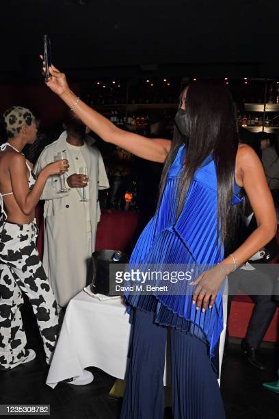 Naomi Campbell attends the London Fashion Week 'Opening Night' party at The Windmill, Soho, during London Fashion Week September 2021 on September...