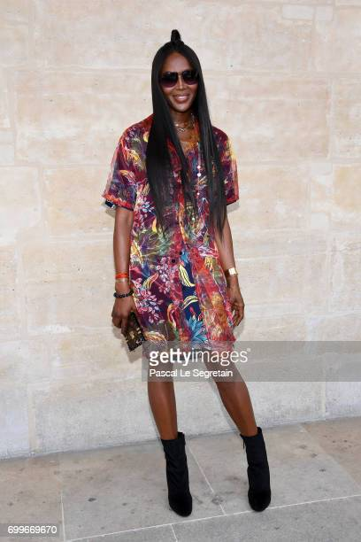 Naomi Campbell attends the Louis Vuitton Menswear Spring/Summer 2018 show as part of Paris Fashion Week on June 22 2017 in Paris France