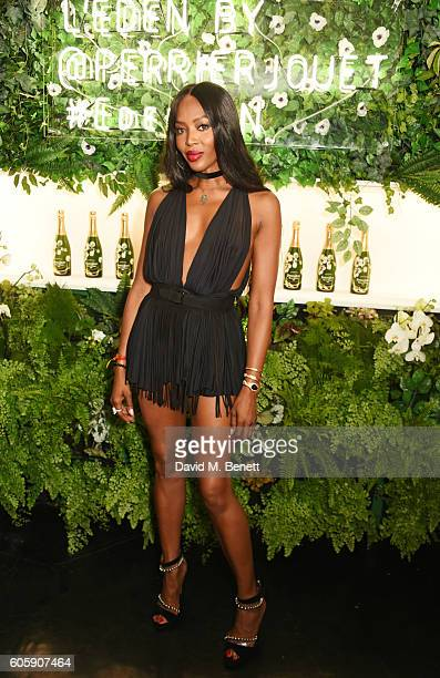 Naomi Campbell attends the opening party for L'Eden by PerrierJouet in London's Wardour Street on September 15 2016 in London England