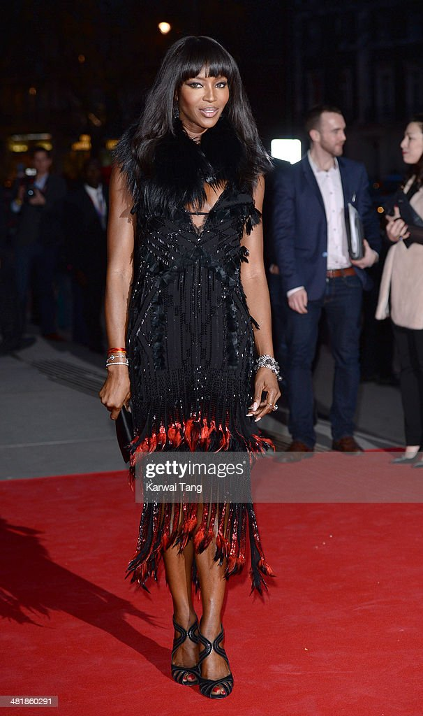 Naomi Campbell attends the preview of The Glamour of Italian Fashion exhibition at the Victoria & Albert Museum on April 1, 2014 in London, England.