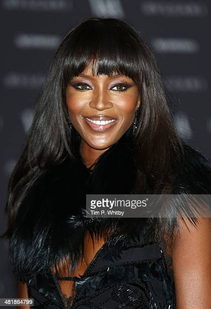 Naomi Campbell attends the preview of The Glamour of Italian Fashion exhibition at Victoria Albert Museum on April 1 2014 in London England