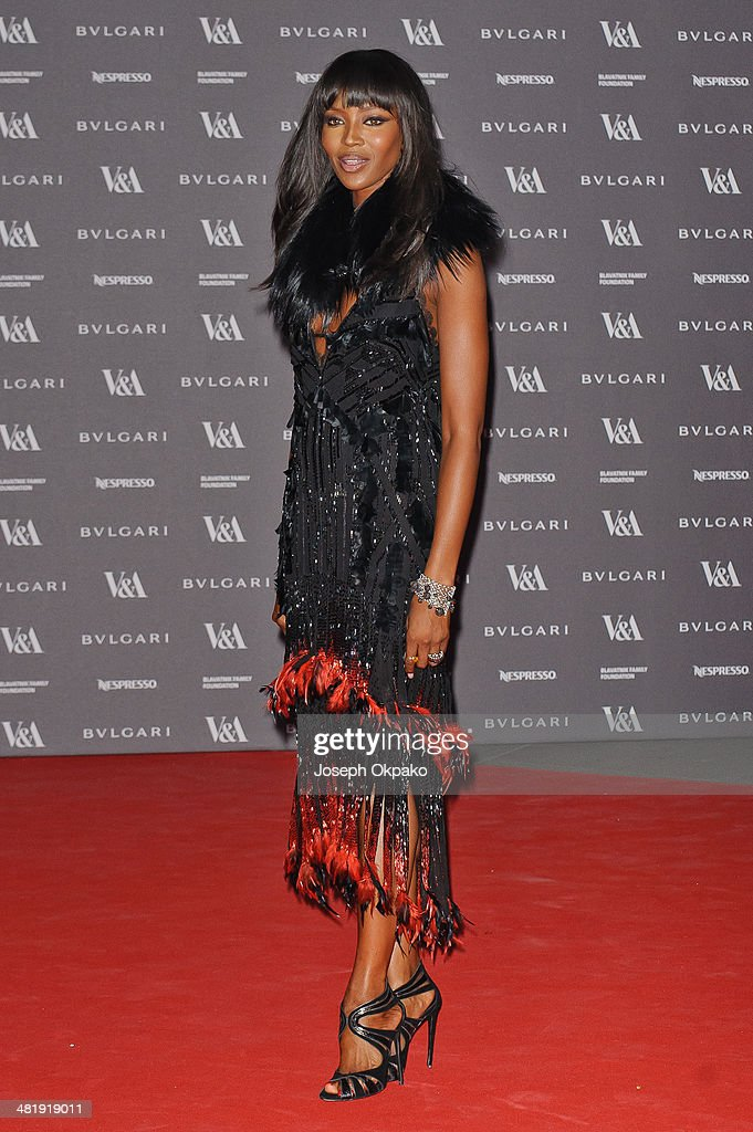 Naomi Campbell attends the preview of The Glamour of Italian Fashion exhibition at Victoria & Albert Museum on April 1, 2014 in London, England.