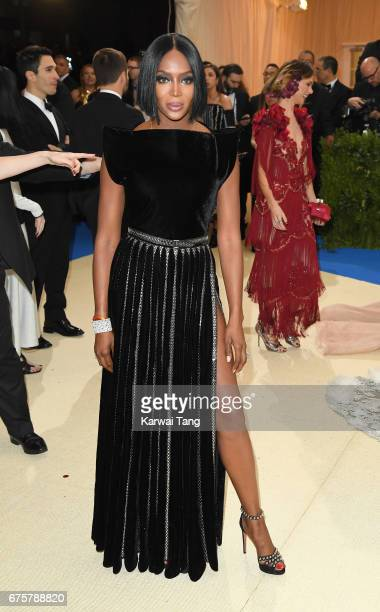 Naomi Campbell attends the 'Rei Kawakubo/Comme des Garcons Art Of The InBetween' Costume Institute Gala at the Metropolitan Museum of Art on May 1...