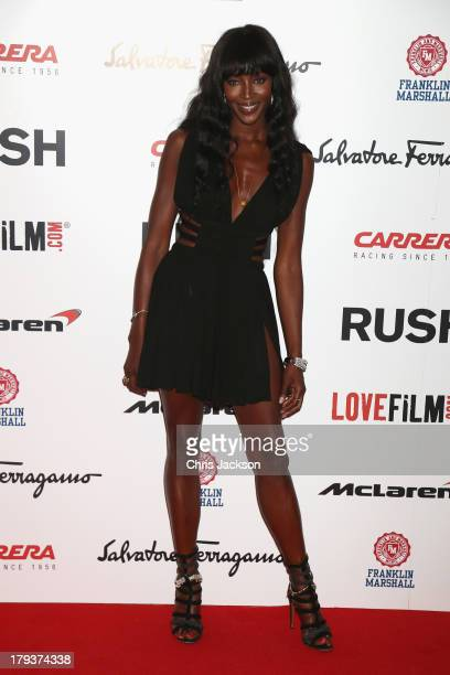 Naomi Campbell attends the Rush World Premiere at Odeon Leicester Square on September 2 2013 in London England
