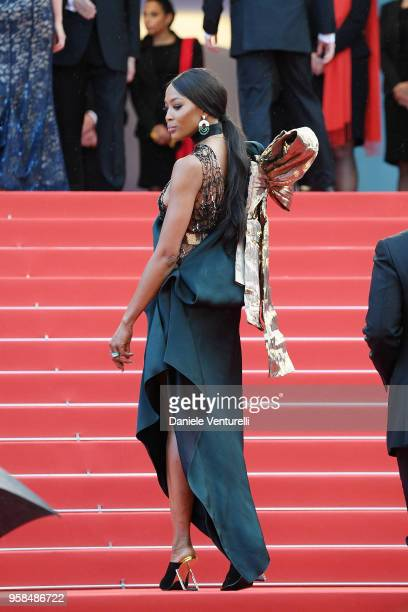 """Naomi Campbell attends the screening of """"BlacKkKlansman"""" during the 71st annual Cannes Film Festival at Palais des Festivals on May 14, 2018 in..."""