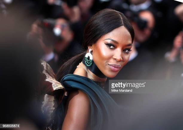 Naomi Campbell attends the screening of BlacKkKlansman during the 71st annual Cannes Film Festival at Palais des Festivals on May 14 2018 in Cannes...