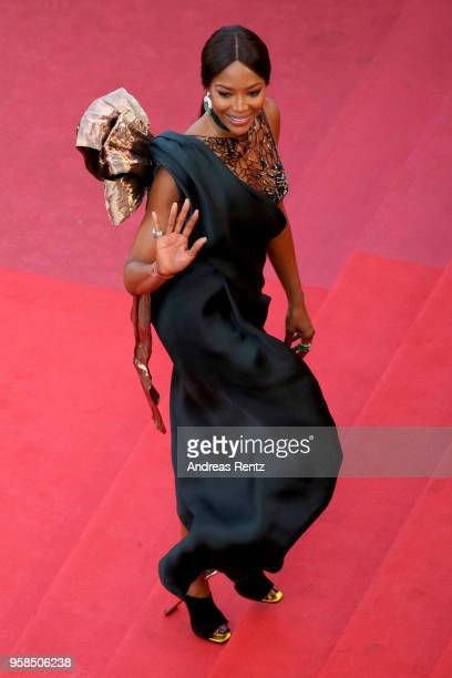 Naomi Campbell attends the screening of 'Blackkklansman' during the 71st annual Cannes Film Festival at Palais des Festivals on May 14 2018 in Cannes...