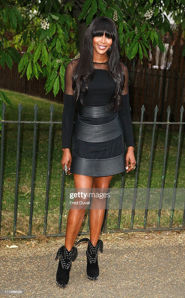 Naomi Campbell attends The Serpentine Gallery Summer Party at The Serpentine Gallery on June 26, 2013 in London, England.