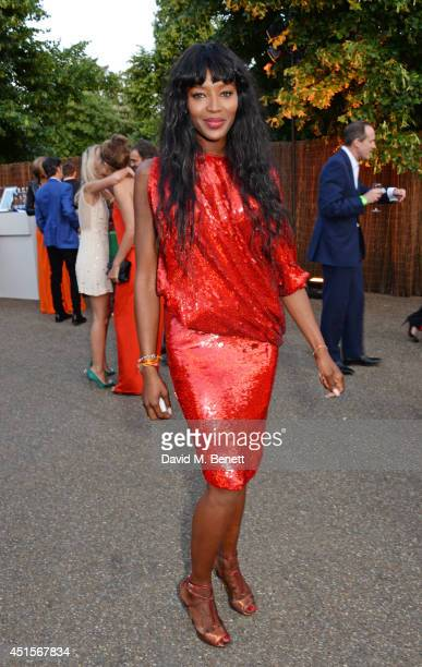 Naomi Campbell attends The Serpentine Gallery Summer Party cohosted by Brioni at The Serpentine Gallery on July 1 2014 in London England