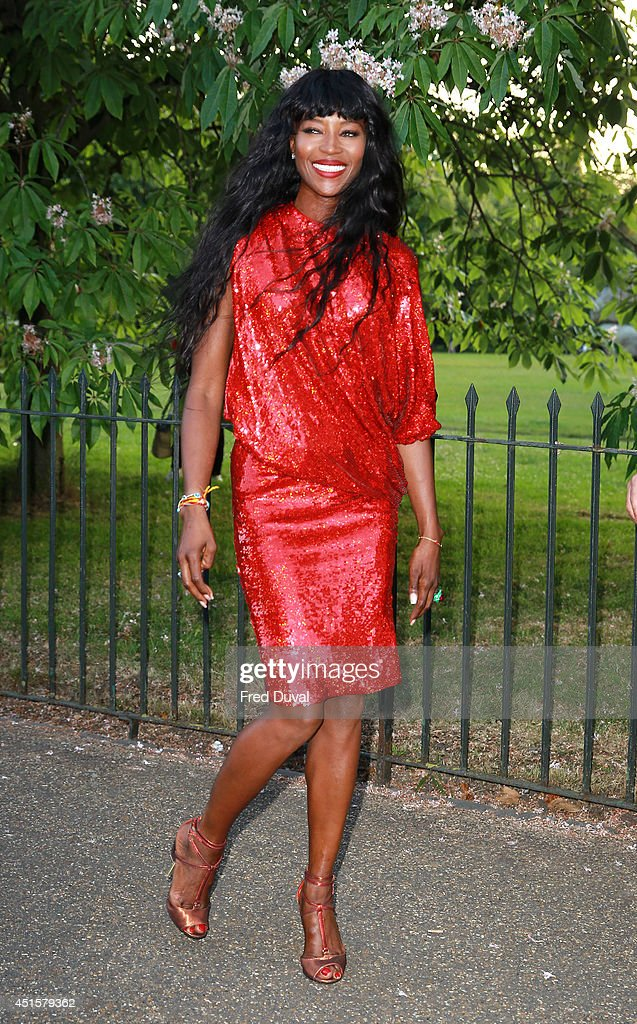 Naomi Campbell attends the The Serpentine Gallery summer party at The Serpentine Gallery on July 1, 2014 in London, England.