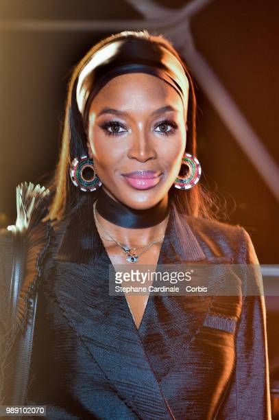 Naomi Campbell attends the 'Tresors d'Afrique' Unvelling Of Chaumet High Jewelry Party as part of Haute Couture Paris Fashion Week on July 1 2018 in...