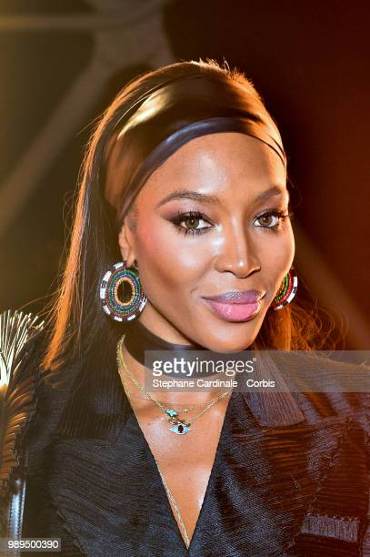 Naomi Campbell attends the Tresors d'Afrique Unvelling Of Chaumet High Jewelry Party as part of Haute Couture Paris Fashion Week on July 1 2018 in...