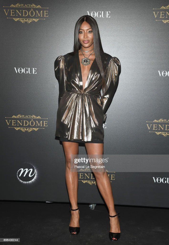 Naomi Campbell attends the Vogue Party as part of the Paris Fashion Week Womenswear Spring/Summer 2018 at Le Petit Palais on October 1, 2017 in Paris, France.
