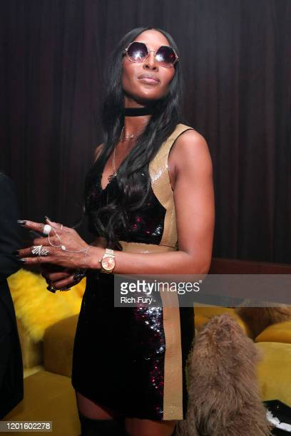 Naomi Campbell attends the Warner Music Group Pre-Grammy Party at Hollywood Athletic Club on January 23, 2020 in Hollywood, California.