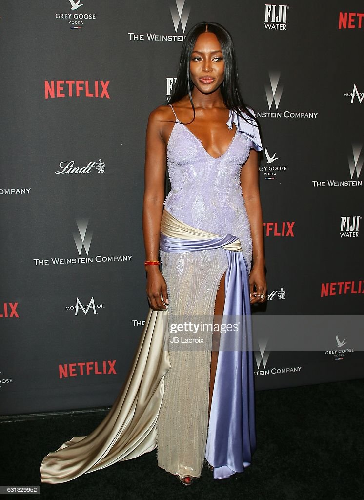 Naomi Campbell attends The Weinstein Company and Netflix Golden Globe Party, presented with FIJI Water, Grey Goose Vodka, Lindt Chocolate, and Moroccan Oil at The Beverly Hilton Hotel on January 8, 2017 in Los Angeles, California.