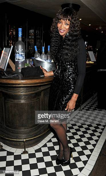 Naomi Campbell attends The Weinstein Company Dinner Hosted By Grey Goose in celebration of BAFTA at Dean Street Townhouse on February 10 2012 in...