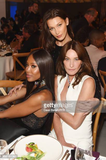 Naomi Campbell Bella Hadid and Carla Bruni attend Fashion for Relief Cannes 2018 during the 71st annual Cannes Film Festival at Aeroport Cannes...