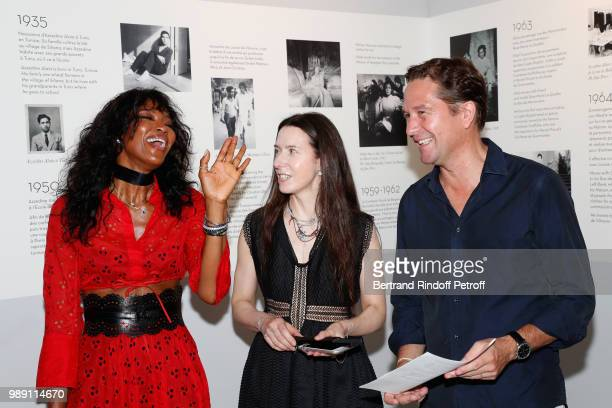 Naomi Campbell Caroline FabreBazin and Director of Alaia Eric Vallat attend L'Alchimie secrete d'une collection The Secret Alchemy of a Collection...