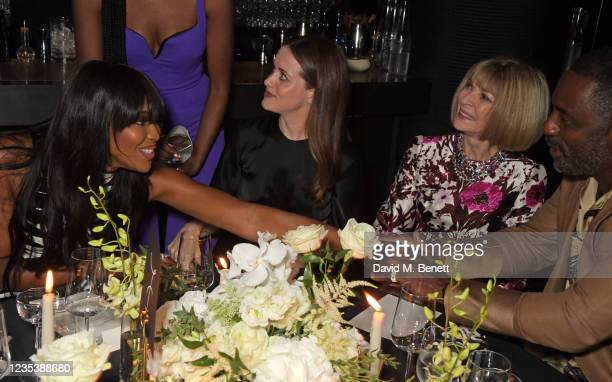 Naomi Campbell, Claire Foy, Editor-In-Chief of American Vogue and Chief Content Officer of Conde Nast Dame Anna Wintour and Idris Elba attend an...