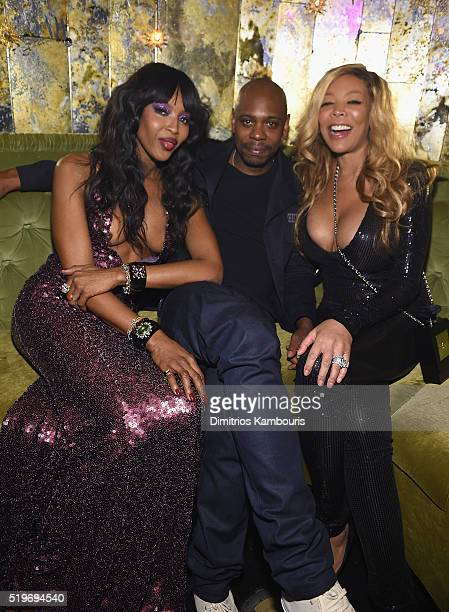 Naomi Campbell Dave Chappelle and Wendy Williams attend as Marc Jacobs Benedikt Taschen celebrate NAOMI at The Diamond Horseshoe on April 7 2016 in...