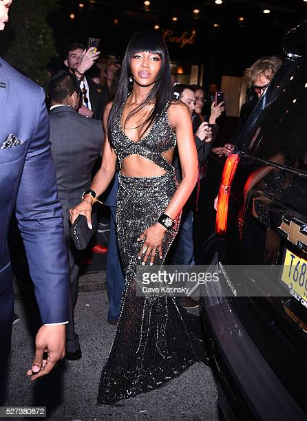 Naomi Campbell departs The Carlyle on May 2, 2016 in New York City.