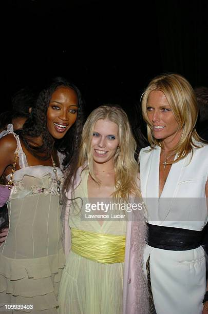 Naomi Campbell Diadora Richards and Patti Hansen during Louis Vuitton Celebrates its 150th Anniversary at Lincoln Center in New York City New York...