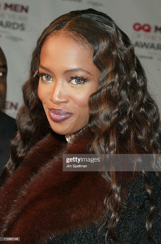 Naomi Campbell during 2002 GQ Men of the Year Awards - Arrivals at Hammerstein Ballroom in New York City, New York, United States.