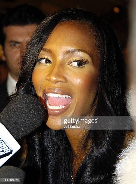 Naomi Campbell during 2004 MTV European Music Awards Red Carpet at Torr di Valle in Rome Italy